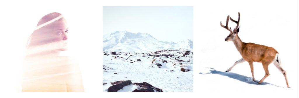 jente, fjell og reinsdyr- Nordic photodesign