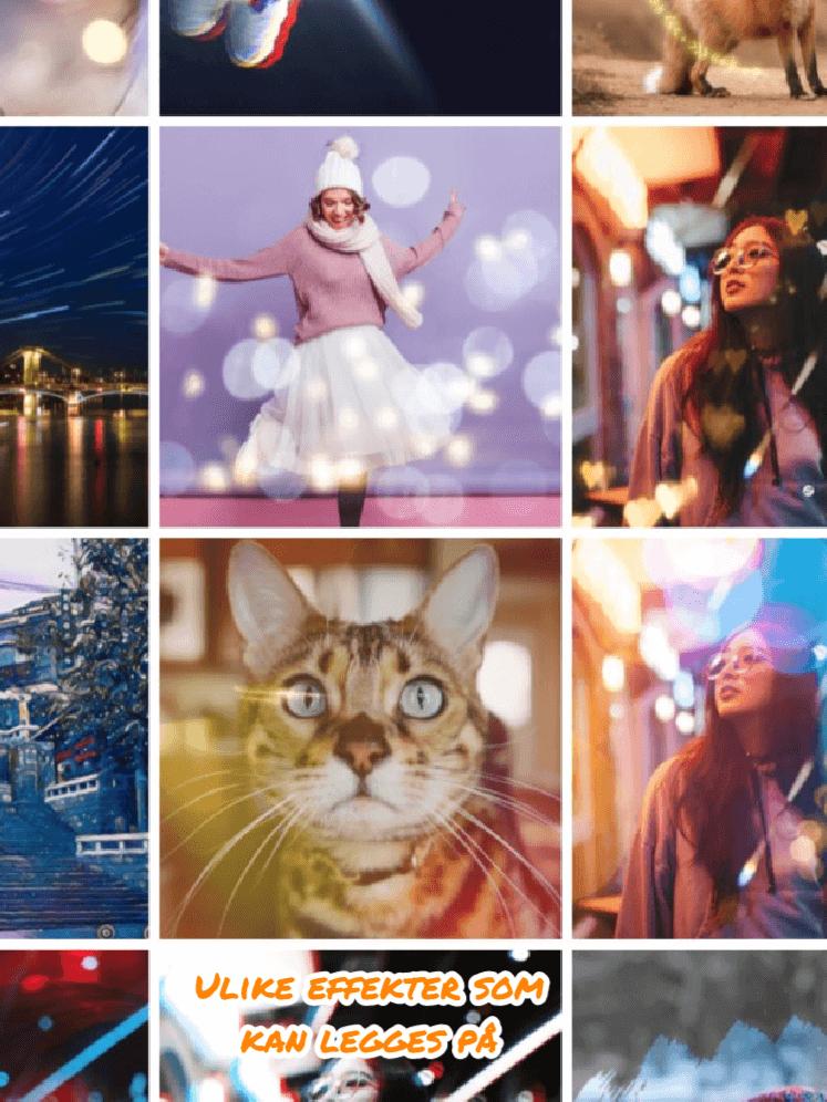 Få alle mulige effekter med Picsart - Nordic photodesign