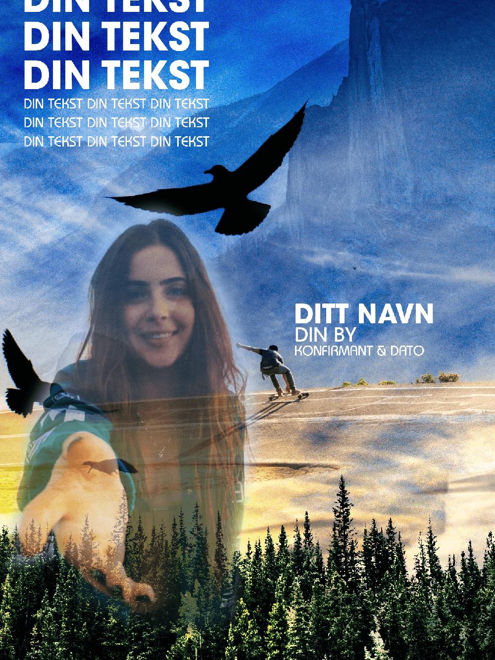 Få laget en unik konfirmantplakat fra Nordic photodesign
