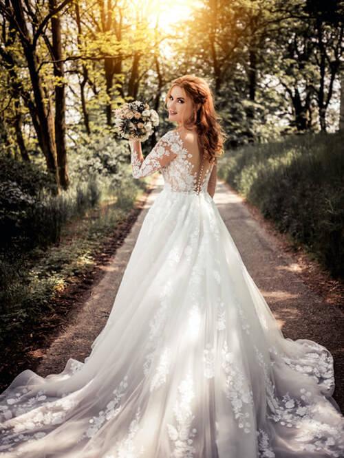 Bruden er viktig i et brudebildet