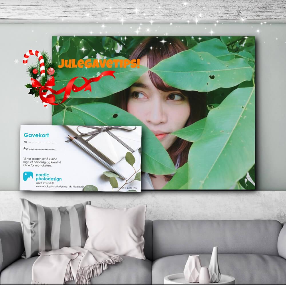 Gavekort på veggbilde som en fin gave!