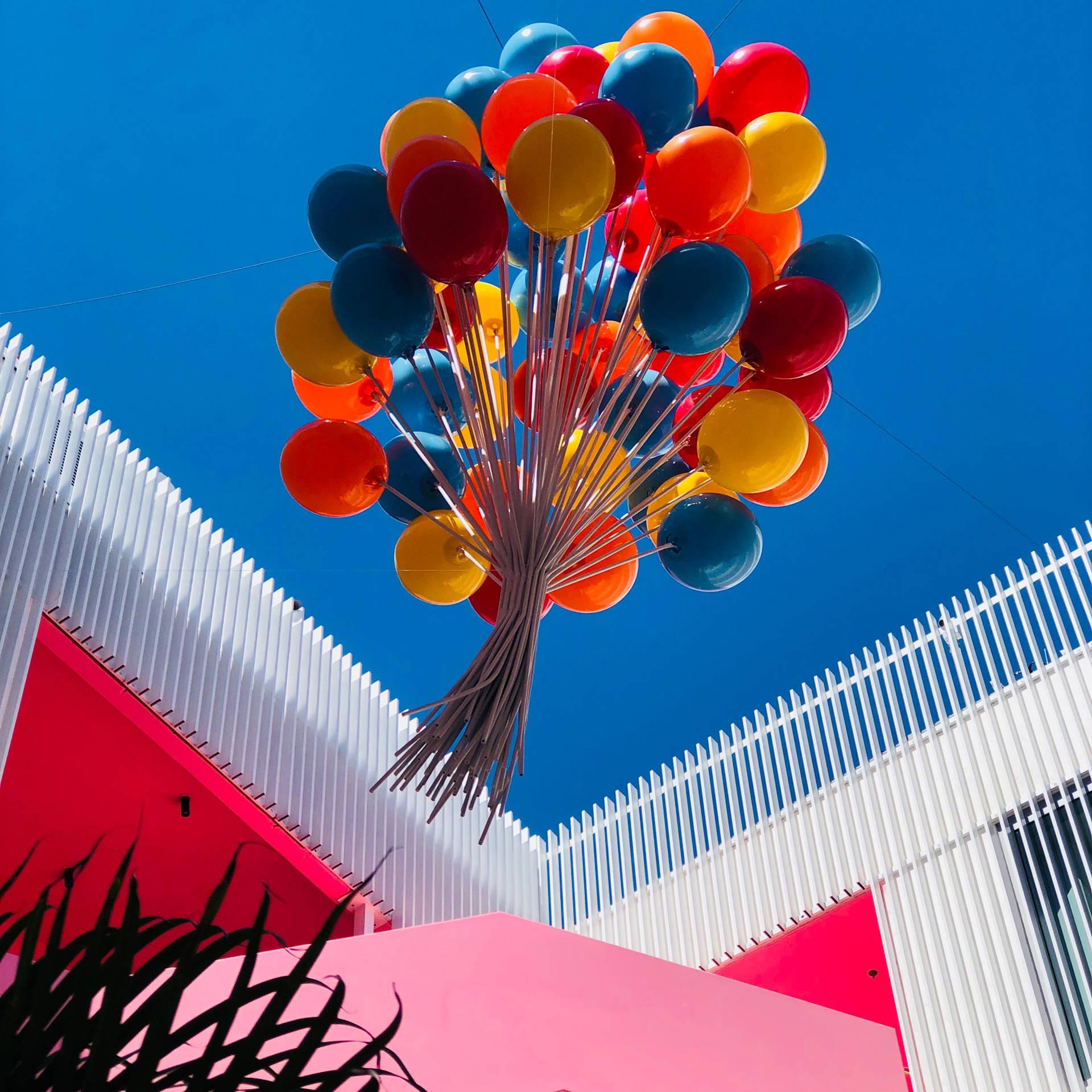 Ballonger blir fest og en glede